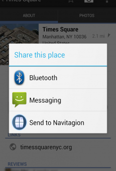 Send to Navigation - android_phone